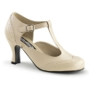 FLAPPEr-26 Cream Faux Leather